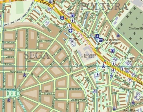 Harta Municipiului Arad Ar 100 X 70 Cm Sipci De Plastic Bnb