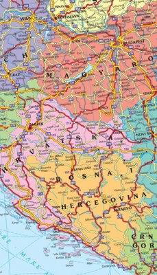 Harta Europa Rutiera 140 X 100 Cm Sipci Lemn Bnb