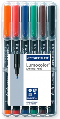Marker permanent Lumocolor 0.4 mm 6 culori/set Staedtler