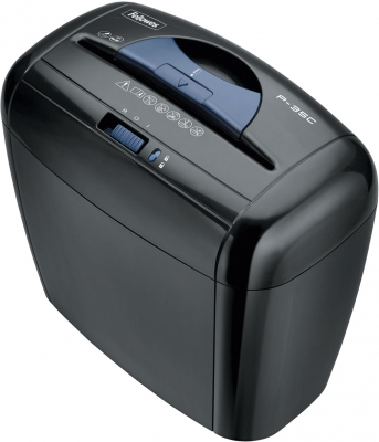 Distrugator documente 5 coli Fellowes Powershred P-35C negru