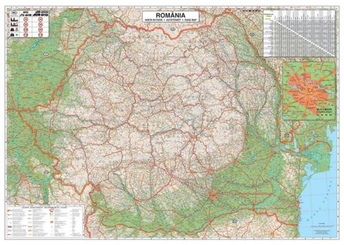 Harta Romania Rutiera 100 X 70 Cm Sipci Plastic Bnb