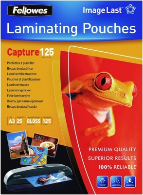 Folii laminare A4 lucioase 125 microni Capture Fellowes