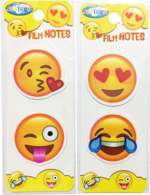 Index plastic adeziv Emojidex, 40 x 40 mm, 20 buc pe coala Centrum