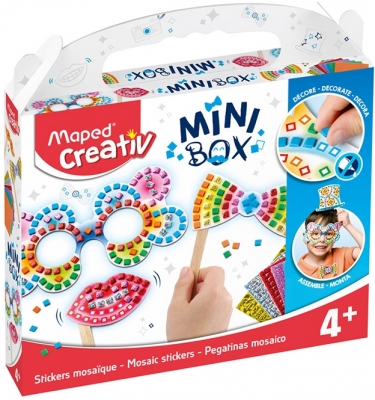 Set creativ, Stickere Mozaic, Mini Box Maped