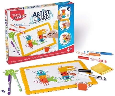 Set Creativ Artist Board Monstrii Maped