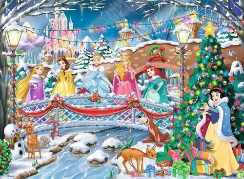 Puzzle Craciunul Printeselor Disney 500 Piese Ravensburger Bnb
