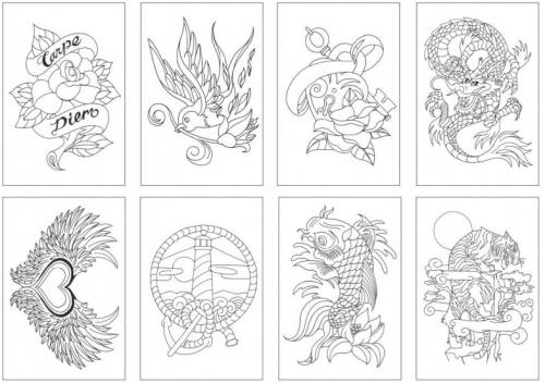 Carte De Colorat Tattoo Chameleon Bnb