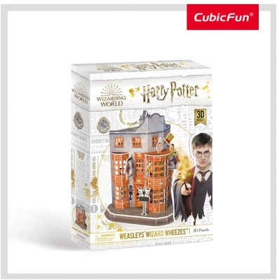 Puzzle 3D Harry Potter - Magazin Weasleys CubicFun