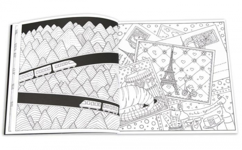 Carte de colorat Zentangle-Dream Journey 72 file Herlitz