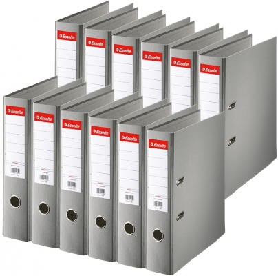 Biblioraft Economy, PP, A4, 75 mm, gri, 20 buc/set Esselte