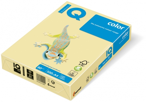 Hartie copiator IQ color trend A4 lemon yellow 80 g/mp, 500 coli/top