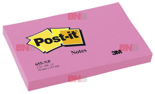 Notite adezive pastel roz Post-It® 127 x 76 3M