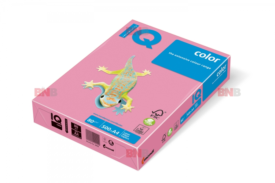 Carton IQ color pastel A3 pink 160 g/mp, 250 coli/top