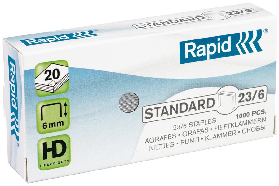 Capse standard 23/6 1000 bucati/cutie Rapid