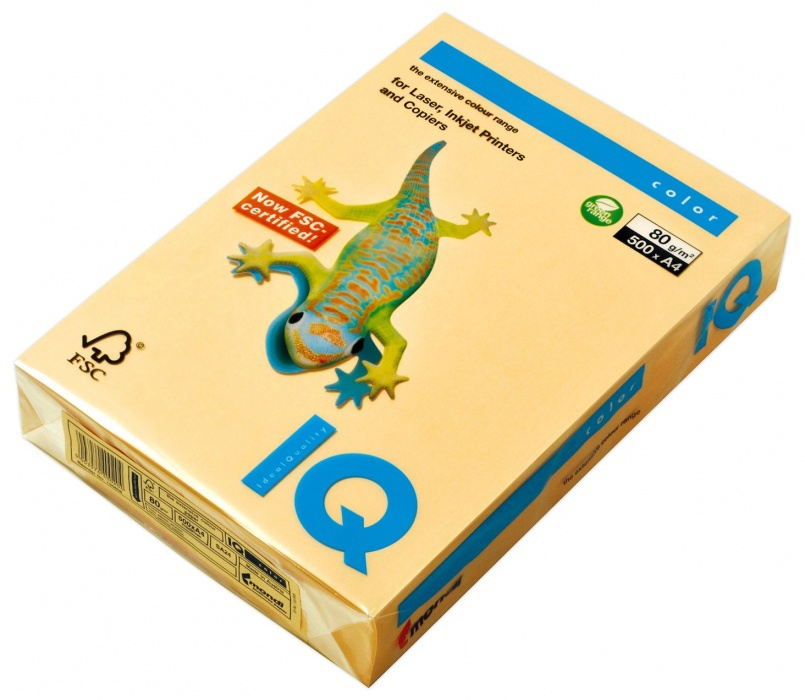 Carton IQ color intens A4 salmon 160 g/mp, 250 coli/top