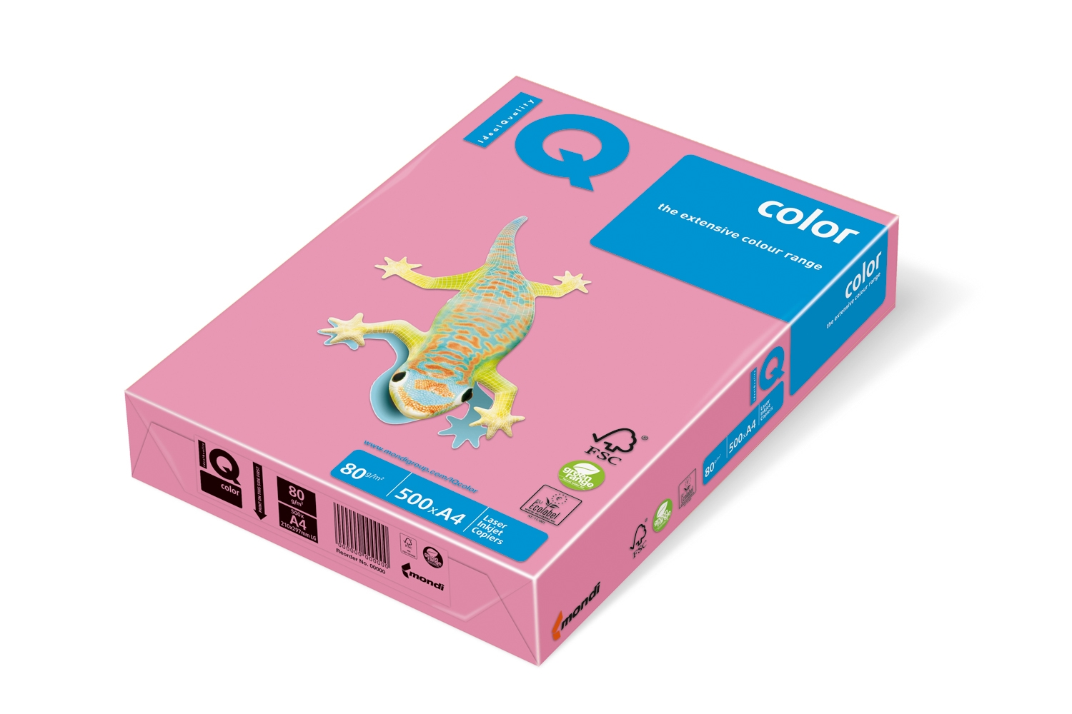 Carton IQ color pastel A4 pink 160 g/mp, 250 coli/top