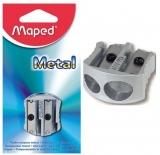 Ascutitoare dubla, din metal, pe blister, Maped