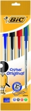 Pix Cristal 4 culori asortate Bic