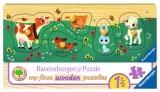 Puzzle Din Lemn Cu Animale, 5 Piese Ravensburger