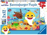 Puzzle Baby Shark, 2X12 Piese Ravensburger