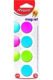 Magnet rotund, 27 mm, culori asortate, 4 buc/set Maped