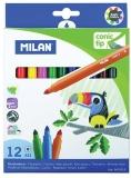 Carioca varf conic 12 culori/set Milan
