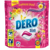 Detergent rufe capsule Duo 24 bucati Color Bujori de munte Dero