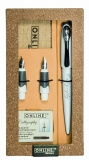 Set caligrafie stilou Best Writer Air White + 2 penite + etui in cutie magnet ONLINE Germany