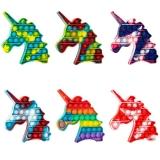 Jucarie senzoriala antistres Pop it Now and Flip it, Push Bubble model unicorn multicolor