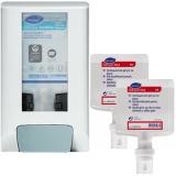 Pachet 2 rezerve dezinfectant de maini 1300 ml cu dispenser IntelliCare actionare manuala alb Diversey