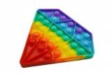 Jucarie senzoriala antistres Pop it Now and Flip it, Push Bubble, 15 cm, model Diamant multicolor