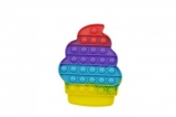 Jucarie senzoriala antistres Pop it Now and Flip it, Push Bubble, model Inghetata multicolora