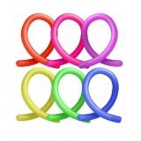 Jucarie senzoriala antistres super elastica Stretchy String Fidget multicolor, 6 buc/set