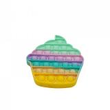 Jucarie senzoriala antistres Pop it Now and Flip it, Push Bubble, model Briosa multicolora