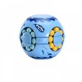 Jucarie antistres senzoriala Cub magic interactiv, Magic Bean, Sfera, 7 cm, culoare albastru