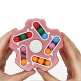 Jucarie antistres senzoriala Spinner magic interactiv, Magic Bean, Stea, culoare roz