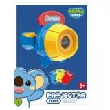 Jucarie educativa Proiector tip lanterna cu 24 imagini cu animale, albastru