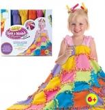 Set de creatie DIY Flippy tesut si tricotat Patura multicolora