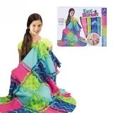 Set de creatie DIY tesut si tricotat Patura multicolora