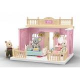 Dormitor 2 pentru papusi cu mobilier si figurina