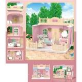 Dormitor pentru papusi cu mobilier si figurina