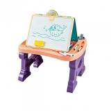 Jucarie educativa pentru copii 2 in 1, tabla si masa pentru desenat