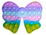 Jucarie senzoriala antistres Pop it Now and Flip it, Push Bubble, 16 cm, model Fundita multicolora