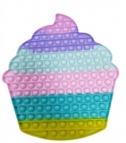 Jucarie senzoriala antistres Pop it Now and Flip it, Push Bubble, 34 cm, model Briosa multicolora
