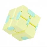 Cub antistres Fidget Toy Infinity Magic Cube, culoare galben/albastru
