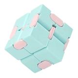 Cub antistres Fidget Toy Infinity Magic Cube, culoare albastru/roz
