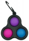 Jucarie senzoriala spinner Flippy- Fidget Toy, Simple Dimple, 3 bilute, negru
