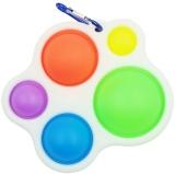 Jucarie Senzoriala Antistres, Simple Dimple, 5 bulinute, multicolor