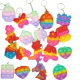 Breloc jucarie Mini POP IT Push Pop Bubble Fidget, 6.5 x 5 cm, diverse modele, multicolor