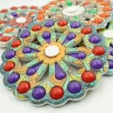 Jucarie antistres Simple Dimple Fidget Toy Spinner cu 24 buline, multicolor